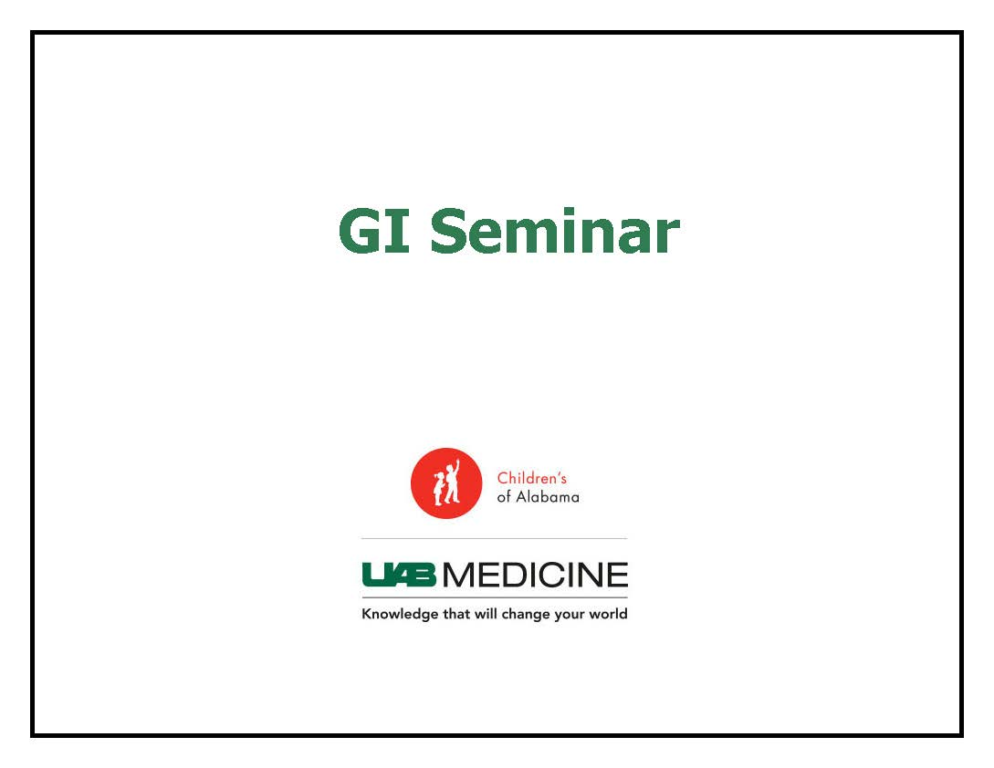 2019 - 2020 Pediatric GI Seminar Banner