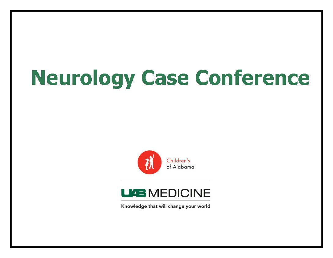 2019 - 2020 Neurology Case Conference Banner