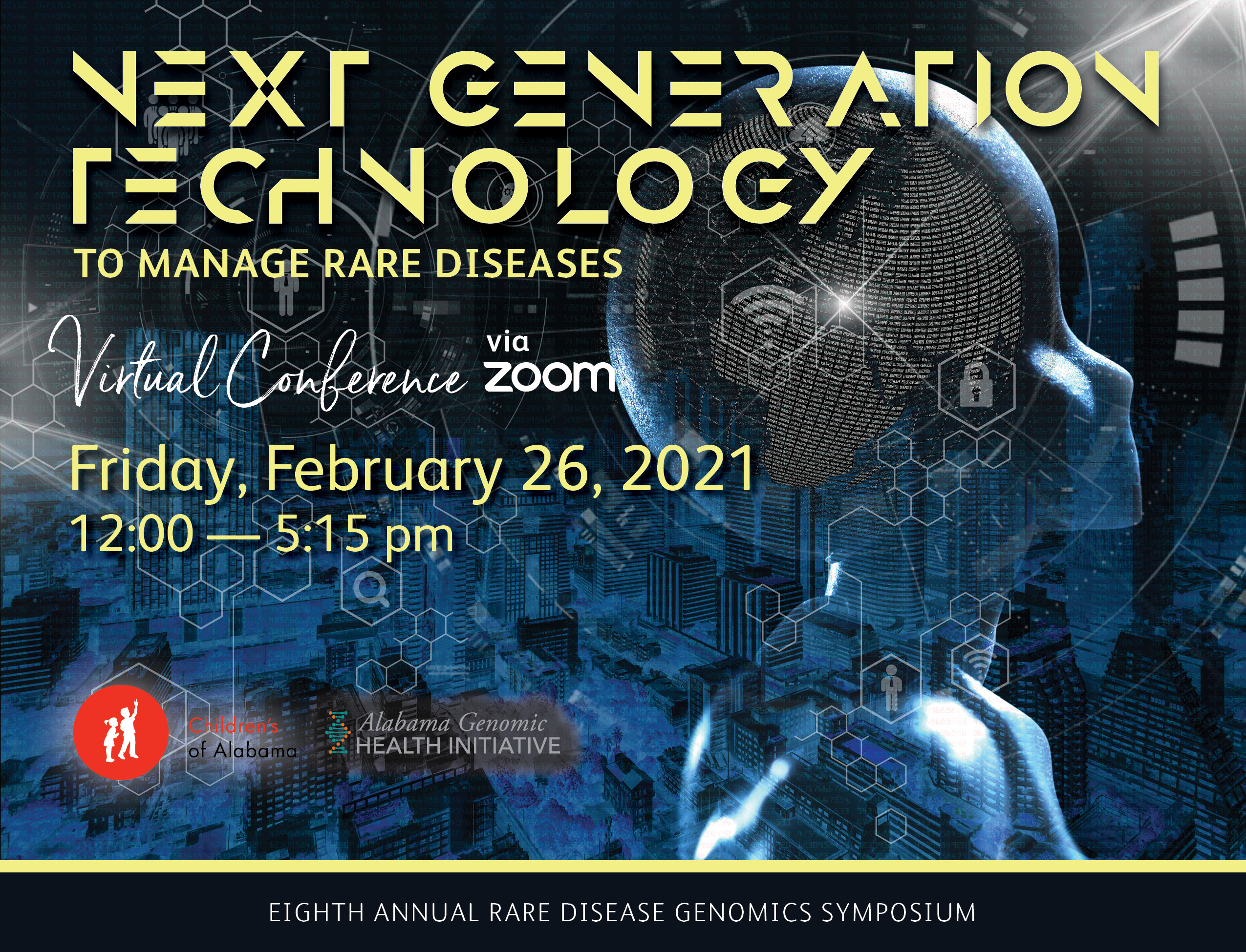 8th Annual Rare Disease Day Symposium Next Generation Technology to Manage Rare Disease Banner
