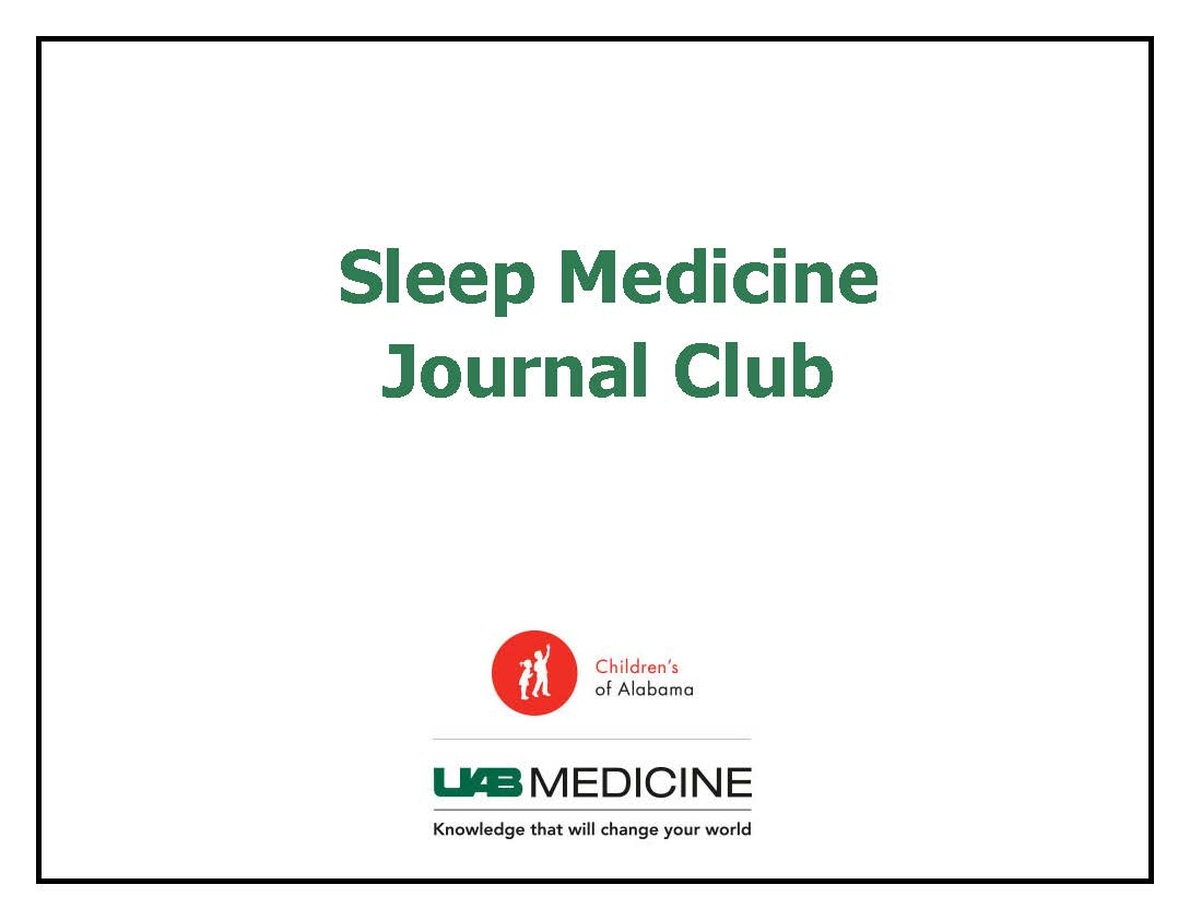 2019-2020 Sleep Medicine Journal Club Banner